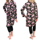 Women's Gold Coast Plush Fleece Floral Long Bathrobe Loungewear Sleepwear Robe