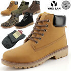 MENS WORK SAFETY SHOES LEATHER BOOTS HARD TOE CAP ANKLE BOOTS SHOES TRAINERS