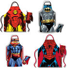 Marvel / DC Comics: Costume Apron And Oven Mitt Set - New & Official In Gift Box
