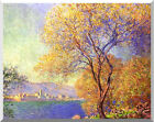 Stretched Canvas Art Claude Monet Antibes Seen from La Salis Giclee Print Repro