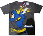 BATMAN Boys gray cotton short sleeve summer t-shirt 6,8,10,12 Age 4-9y Free Ship