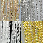 5M Silver/Gold/White K/Rose Tone Metal Pendant Necklace Ball Bead Round Chain