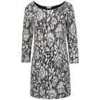 Ladies Womens Italian Knitted Bobble Black White Floral Mohair Fluffy Dress Top