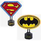 DC Comics: Logo Shaped Neon Table Light - New + Official In Box Superman/Batman