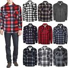 MENS THICK LUMBER JACK WARM SHERPA LINED WINTER SHIRT CHECK PADDED BNWT SZ M-3XL