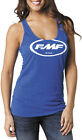 FMF Racing Womens Classic Don Royal Tank Top Black Shirt S-M
