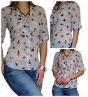 Blouse Ladies Casual Loose Shirt Tops Long Sleeve Top Size 8 10 12 14 16 18 20