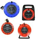 2-4 WAY 5M/10M/15M/20M/40M CABLE EXTENSION REEL LEAD SOCKET HEAVY DUTY 240V 13A