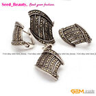 Marcasite Stairs shap Antiqued Tibetan Silver Earrings Pendant  Ring Jewelry Set