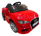 KIDS RIDE ON AUDI A3 LICENSED 12V CAR REMOTE CONTROL TWIN MOTOR BATTERY CARS  <br/> ***2 YEAR EXTENDED MOTOR WARRANTY + FREE SEAT COVER***