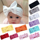 Girls Kids Baby Cotton Bow Hairband Headband Stretch Turban Knot Head Wrap