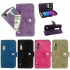 For LG Tribute 2 LS665 Leon C40 Power Leather Wallet Flip Case Cover Card Holder