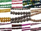 """240+ Spray Painted Drawbench Glass Round Beads 4mm 32"""" Strand RANGE OF COLOURS"""