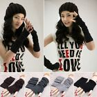 Ladies Knitted Wool Long Fingerless Arm Warmers Gloves New Fashion