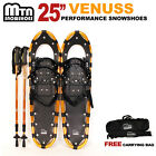 """New MTN 25"""" GOLD All Terrain Snowshoes + Nordic Pole + Free Carrying Bag"""