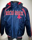 BOSTON RED SOX Winter Jacket Parka Fleece Lining BLUE / RED S, M, XL, XXL on Ebay
