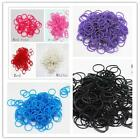 600 Pcs Kids DIY Rubber Bands 24 Clips 1 Hook Colorful Loom Refill Candy Color S
