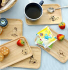 Moomin Wooden Plate Small Tray Food Tea Cookie Dish Cute Anime Serving Container