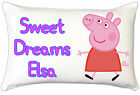 Peppa Pig Kids Childrens Personalised Pillow Case Childrens Bedroom Gift