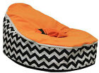 UNFILLED Waves Print  2 Layer Baby Bean Bag Chair Bed Todler Kid Portable Seat