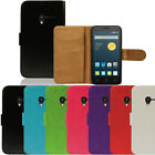 New Flip Leather Case Wallet Cover For The Alcatel Idol Smartphone Series