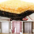 New Big Hook Flocking Pattern Voile Window Curtain Fashion Window Screening G3HQ