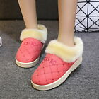 Womens Faux Fur Boots Snow Winter Slippers Flats Soft Comfy Indoor Home Shoes