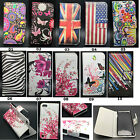 Hybrid Classic Folio Wallet Leather Flip Cover Case For iPod Touch 5 5th 6th Gen