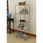 Black/Grey 5 Tier Steel Shelf Home Kitchen Storage Wire Metal Rack Shelving NEW