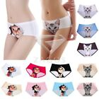 Women's 3D Kitty Cat Seamless Ice Silk Underwear Boxer Shorts Briefs Lingerie
