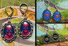 SUPERHERO EARRINGS WONDER WOMAN SUPERMAN BATMAN DEADPOOL HULK PIERCED EAR
