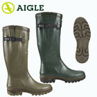 Aigle Parcours 2 ISO Wellington Boot Wellies Adjustable Strap Natural Rubber