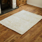 SMALL MEDIUM LARGE CREAM 4CM HIGH PILE THICK HIGH QUALITY FEATHER STYLE RUGS