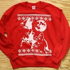 Three Wolf Moon Ugly Christmas Sweatshirt Sweater Holiday Funny