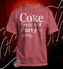 New Coca-Cola Coke Keeps the Party Going Classic Vintage Retro T-Shirt $18.95  on eBay