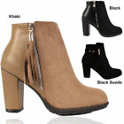 Womens Ladies High Heel Ankle Boots Zip Up Sexy Shoes UK Size  3 4 5 6 7 8