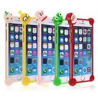 Cute Cartoon Soft Silicone Shock-proof Phone Case Cover for iPhone 4 5S 6S Plus