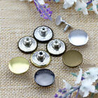 12 Pcs Metal Round No-Sew High-grade Buttons For Coat/Jeans/Pants/Denim Shirts