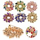 Ladies Rhinestone Crystal Bridal Flower Bouquet Flower Brooch Pin Wedding Party