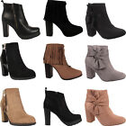 New Womens Chelsea Maria Ankle Boots Ladies Low High Heel Platform Shoes Sizes