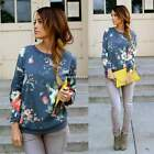 Plus Women Pullover Top Floral Jumper Hoodie Long Sleeve Coat Sweatshirt AU 8-20