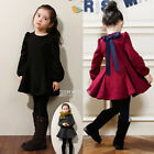 Toddler Kids Girls Long Sleeve Clothes Princess Party Xmas Dress Size 3T 4 5 6 8