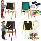 KIDS EASEL CHALK DRAWING BOARD DOUBLE SIDED AGE 3+ CHILDRENS NEW FREE P+P