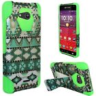 T-Stand Hard Soft Hybrid Case Cover for Kyocera Hydro AIR C6745 LTE / Wave C6740