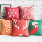 """Lovely Cartoon Throw Pillow Case Cushion Cover Square 18"""" Linen Christmas Gift"""