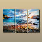 FRAMED Large Modern Contemporary Canvas Wall Art Print Painting Sunrise Beach 26