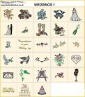 WEDDINGS 1. CD machine embroidery designs files bridal  most formats