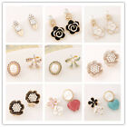 Lot Hot Women Fashion Elegant Charm Shiny Crystal Earrings Wedding Party Jewelry