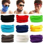 Solid Colors Tube Scarf Bandana Head Face Mask Skull Neck Gaiter Snood Headwear