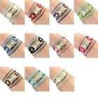Vintage Fashion Crystal Band Bracelet Dial Quartz Dress Wrist Analog Watch PHNG